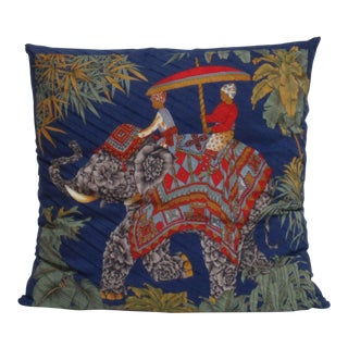 Asian Salvatore Ferragamo Silk Pillow For Sale