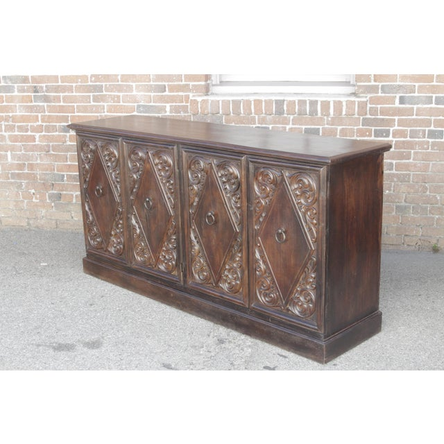 Spanish Colonial Carved Sideboard - Image 6 of 9