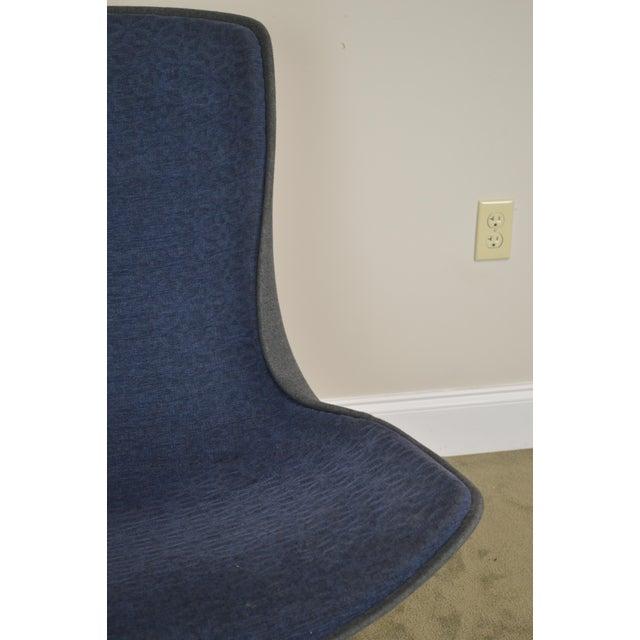 Monica Forster for Bernhardt Chrome Base Swivel Vika Lounge Chair For Sale - Image 10 of 13