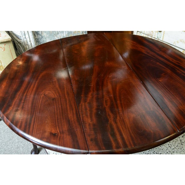 English Mahogany Drop Leaf Table For Sale In West Palm - Image 6 of 8