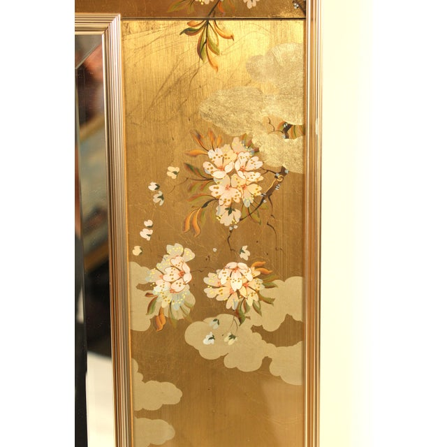 Glass La Barge Chinoiserie Style Mirror, Signed C. Adams For Sale - Image 7 of 13