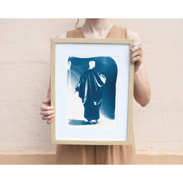 Balenciaga 50's Night Gown Dress From Balenciaga, Fashion Cyanotype Print on Watercolor Paper, A4 Size (Limited Edition) For Sale - Image 4 of 7