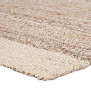 Jaipur Living Mallow Natural Bordered White/ Tan Area Rug - 9′ × 12′ Preview