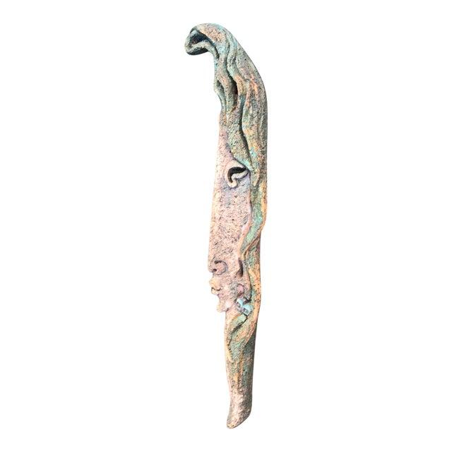 1990s Yeteve Neva Hanging Earthenware Portrait Sculpture For Sale