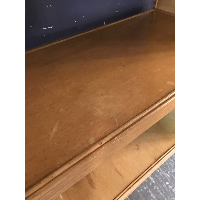 Camel Mid-Century Rattan Shelf Etagere For Sale - Image 8 of 13