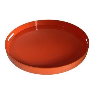 Orange Lacquer Round Tray