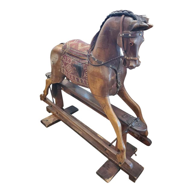 19th Century English Rocking Horse For Sale
