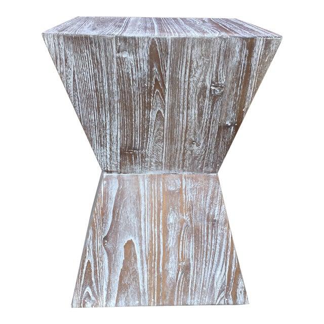 1970s Mid-Century Modern Cerused Oak Side Table For Sale