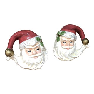 Fitz Floyd Santa Salt and Pepper Shakers - A Pair For Sale