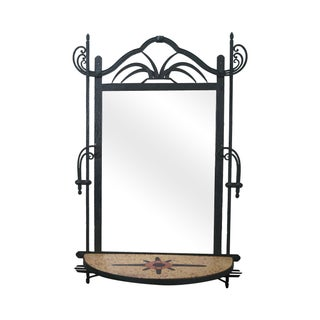 Hand Wrought Iron Southwest Hanging Mirror For Sale