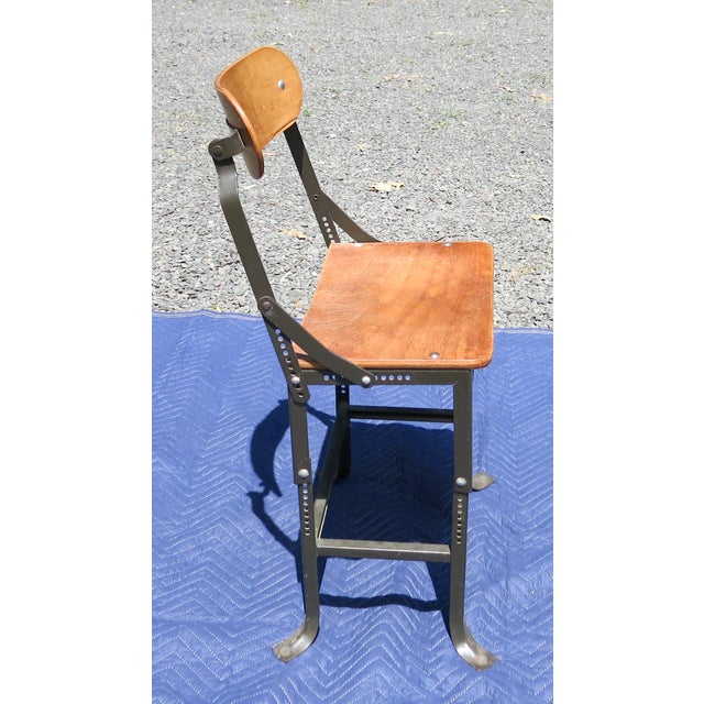 1940s 1940s Vintage Industrial Bent Plywood Chair For Sale - Image 5 of 7