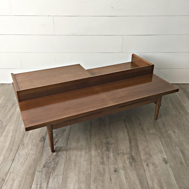 Merton L. Gershun for American of Martinsville Mid-Century Modern Coffee Table Bench - Image 6 of 9