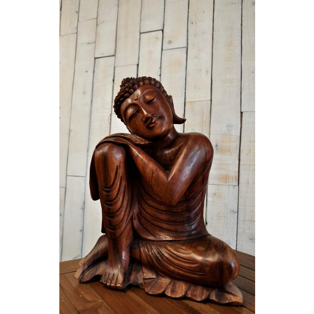 SUAR WOOD BUDDHA STATUE Hand carved large Buddha statue In Buddhism, Buddha statues are to inspire to achieve what the...