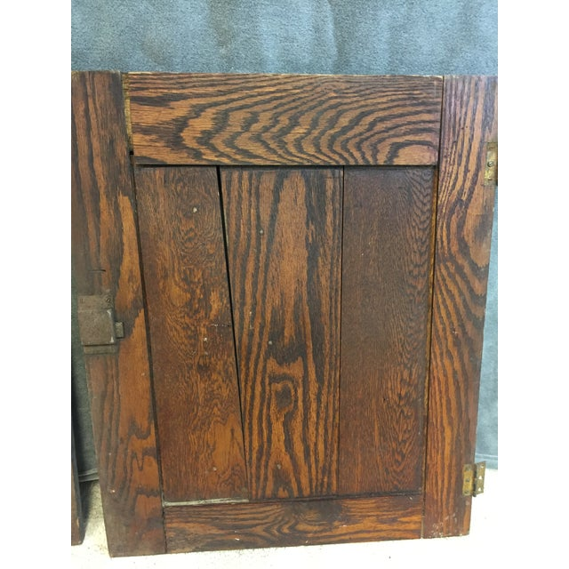 Vintage Rustic Wood Cabinet Doors - A Pair For Sale - Image 5 of 11