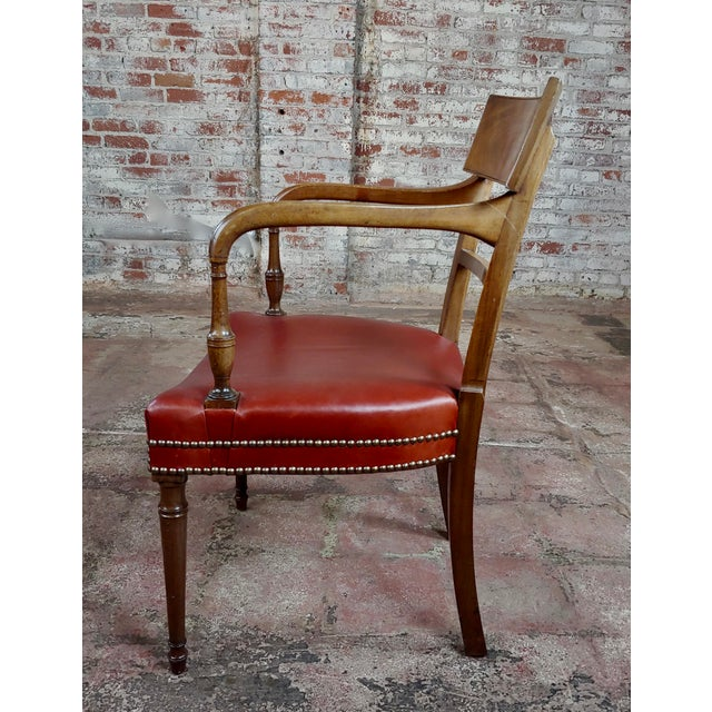 1820s Vintage George IV Mahogany Arm Chairs-Set of 4 For Sale In Los Angeles - Image 6 of 10