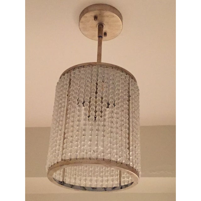 Beaded Pendant Light Fixture - Image 3 of 3