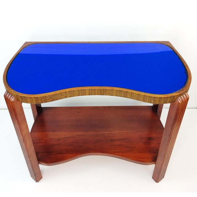 This Table Would Look Great In Your Home It S Eye Catching Cobalt Blue Mirror