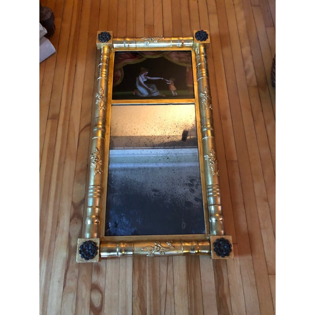 19th Century American Gilt Eglomise Original Wall Mirror For Sale - Image 11 of 13