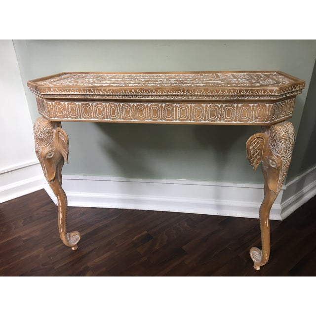 Hand-Carved Elephant Console Table - Image 2 of 11