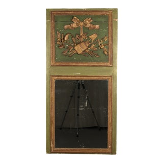 19th Century French Louis XVI Style Trumeau Mirror For Sale