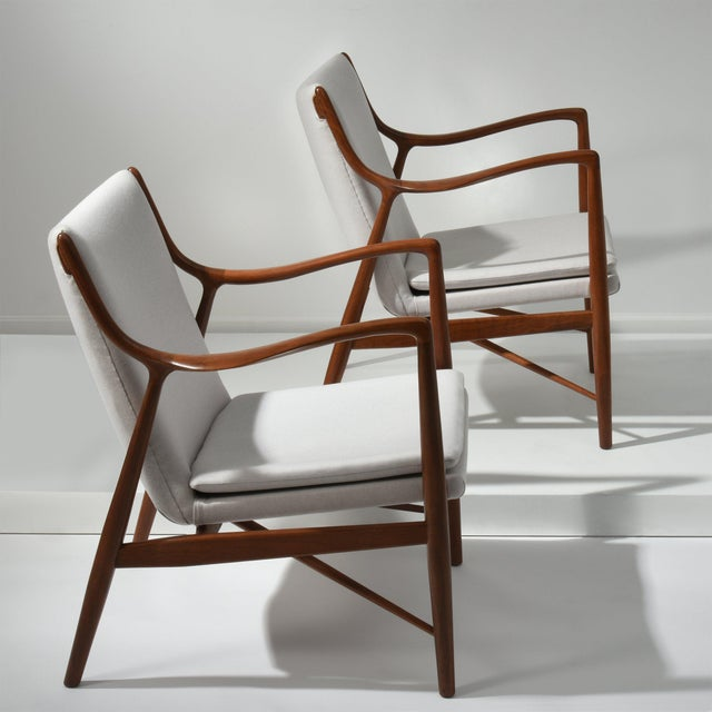 1950s Finn Juhl Pair of Lounge Chairs, 1950s For Sale - Image 5 of 7