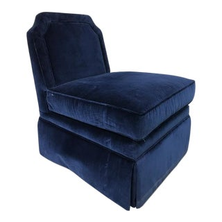 Highland House Luc Skirted Swivel Chair For Sale