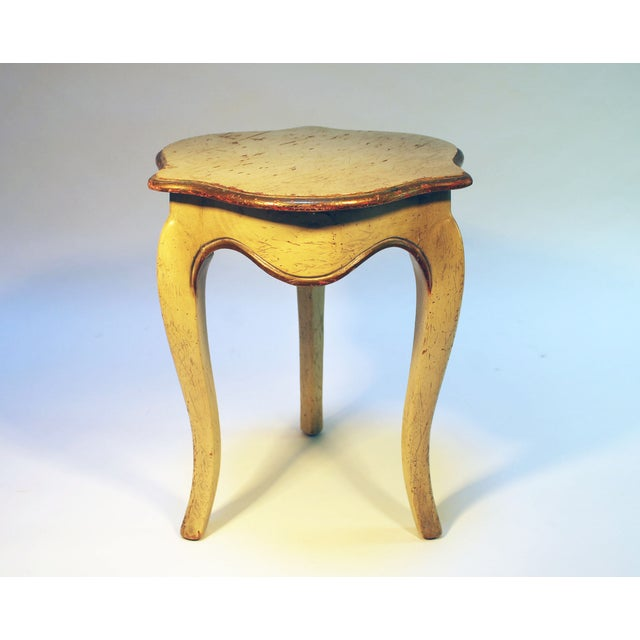 Bell Shaped Primitive Wood Side Table - Image 5 of 6