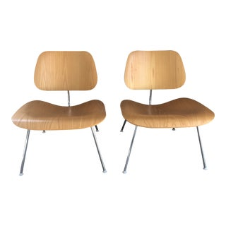 Eames Molded Plywood Lounge Chairs- A Pair For Sale