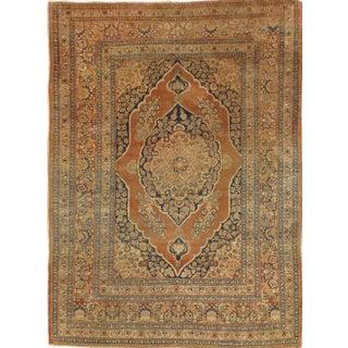 "Pasargad NY Antique Persian Tabriz Haji Jalili Rug - 4'1"" X 5'6"" For Sale"