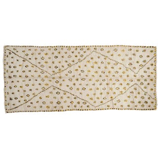 Yellow Dots Moroccan Runner - 4′10″ × 11′2″ For Sale