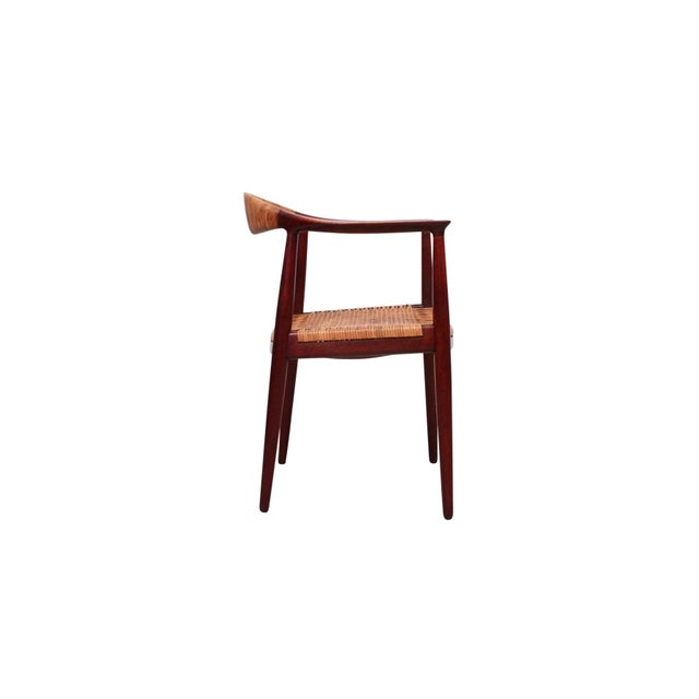 Danish Modern Hans Wegner Classic Cane Chair For Sale - Image 3 of 13