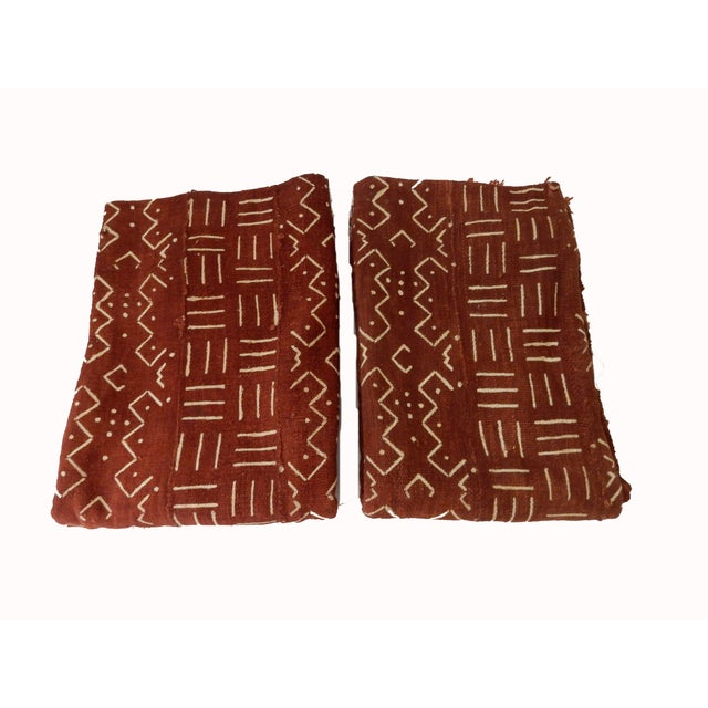 African Chocolate & Ivory Mud Cloth - Pair - Image 8 of 9