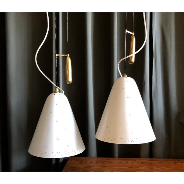 1950s Pair of Pendants by Paavo Tynell For Sale - Image 5 of 10