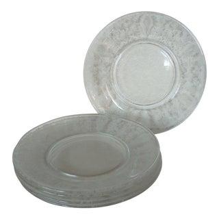 Vintage Cambridge Glass Plates - Set of 5 For Sale