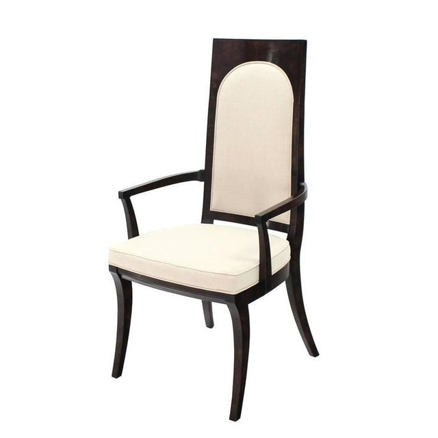 Set of Six Mid-Century Modern Mastercraft Dining Chairs With New Upholstery For Sale In New York - Image 6 of 10