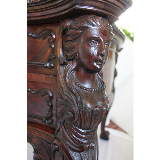 Antique Victorian Partners Desk - Image 4 of 10