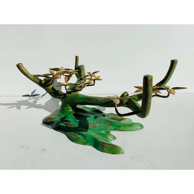 1970s Willy Daro Brass Bonsai Tree Coffee Table Base For Sale - Image 5 of 13