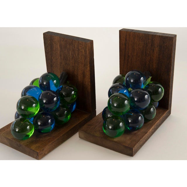 Mid-Century Lucite Grape Bookends- A pair - Image 7 of 10