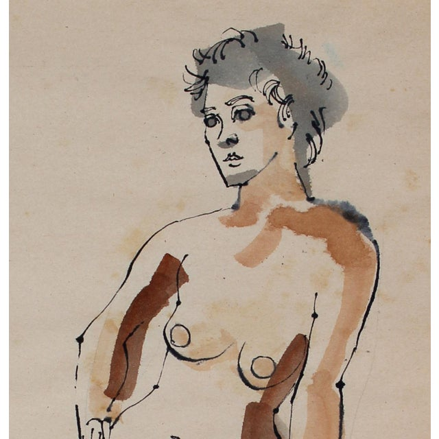 This 1965 ink and watercolor on paper figure is by Oakland artist Rip Matteson (1920-2011). Matteson was educated at U.C....
