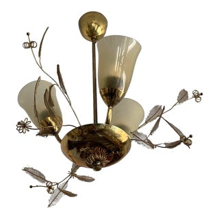 Petite Paavo Tynell Brass Chandelier For Sale