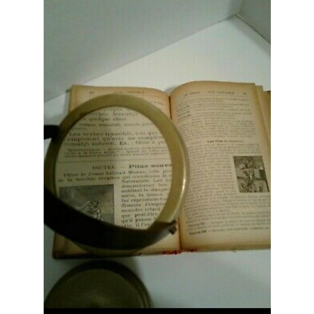 Vintage Sarreid Ltd. Brass Magnifying Glass on Adjustable Stand For Sale In Atlanta - Image 6 of 10