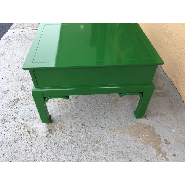 1960s Asian High Gloss Green Side Tables - a Pair For Sale In Tampa - Image 6 of 8