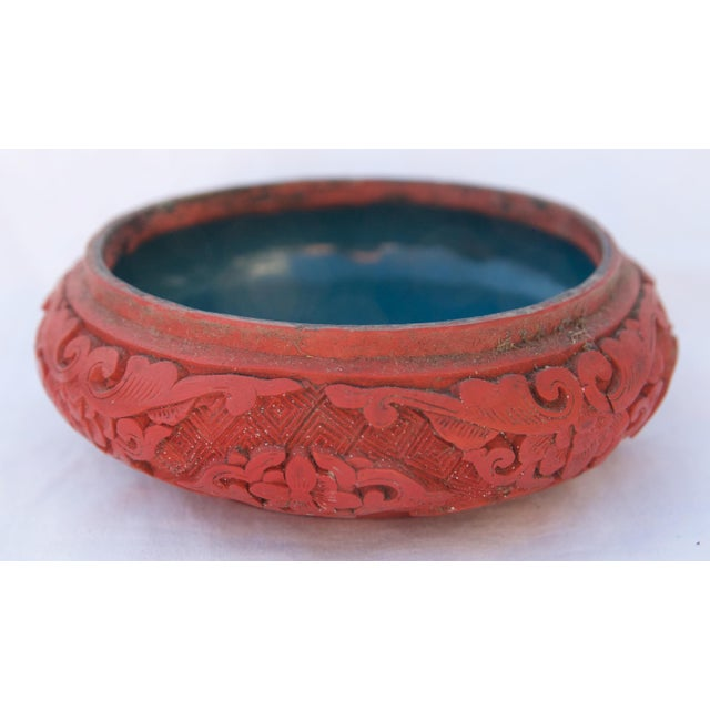 Antique Asian Cinnabar Bowl For Sale - Image 11 of 11