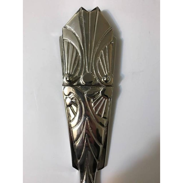 French Art Deco Sconces with Skyscraper Motif - A Pair - Image 4 of 10