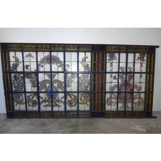 Antique French Stain Glass Window Preview