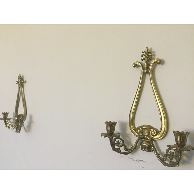 Victorian 2 Arm Candle Wall Sconce- Pair - Image 7 of 7