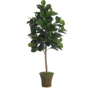 Diane James Faux Fiddle Leaf Fig Tree in Planter For Sale