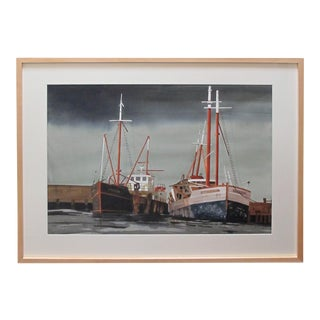Watercolor on Paper 'Bair Thorai, Ireland' Original Painting by Michael Dunlavey For Sale