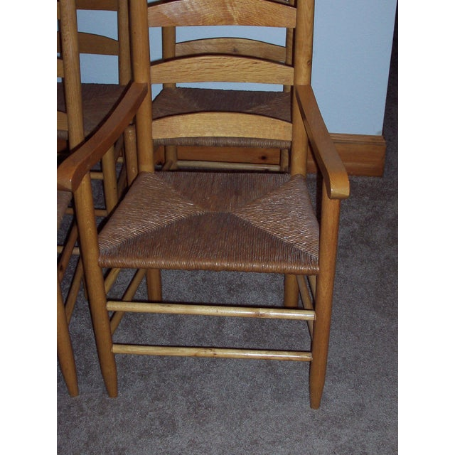 Set of 6 Ladder Back Chairs - Image 5 of 6
