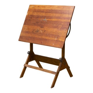 Antique Drafting Table/Dining Table/Desk C.1930 For Sale